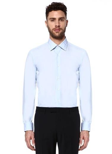 Caruso Uzun Kollu Klasik Gömlek Mavi